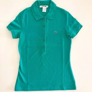 New Women's Lacoste Green Polo Size 42/10